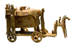 Ancient wagon for burial rite Stock Photography