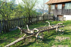 Ancient wain. From Apuseni mountains in Romania Royalty Free Stock Image