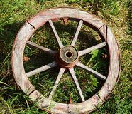 Ancient wain wheel Stock Images