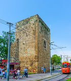 The ancient wall in Antalya Stock Photos