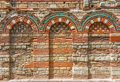 Ancient wall with arch. Found on Nessebar, Bulgaria Royalty Free Stock Photo