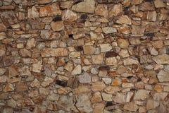 Ancient wall built of bricks Royalty Free Stock Photo
