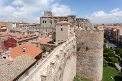 Ancient wall and cathedral of Avila Royalty Free Stock Photos
