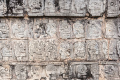 Ancient wall in Chichen Itza temple, Mexico Royalty Free Stock Photos
