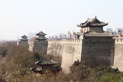 Ancient wall in china Stock Images