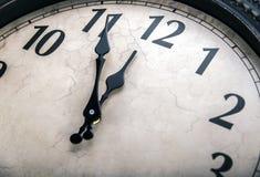 Ancient wall clock . Royalty Free Stock Photo