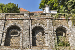 Ancient wall close to Volkskunde museum in Graz, Austria Royalty Free Stock Photos