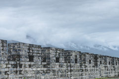 Ancient wall with cloud Stock Image