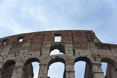 Ancient wall of The Colosseum in Rome. Stock Photography