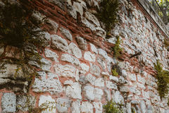 Ancient wall from Constantinople Empire Stock Photography