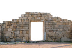 Ancient wall with door Stock Photos