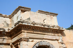 Ancient wall from Ephesus Ruins Stock Photo