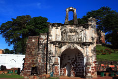 Ancient Wall of A' Famosa Fort Royalty Free Stock Images