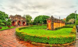 Ancient wall at the Forbidden City in Hue, Vietnam. Ancient wall at the Forbidden City in Hue. UNESCO world heritage in Vietnam stock images