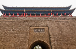 Ancient Wall Gate in Xian China Royalty Free Stock Images