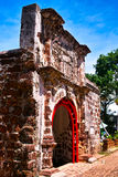 Ancient Wall at Melaka Stock Images