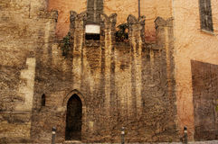 Ancient wall in Modena Italy Stock Photos