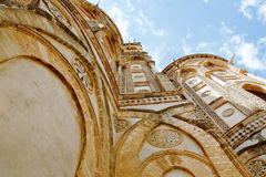 Ancient wall of norman Duomo di Monreale Royalty Free Stock Image