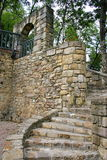 Ancient wall and old stone stairs Royalty Free Stock Images