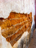 Ancient wall. Of old temple in chieng mai,Thailnd Royalty Free Stock Photo