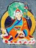 Ancient wall painting art of buddha stock photos