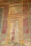 Ancient Wall Painting in Pompeii Stock Images