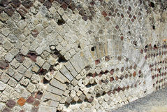 Ancient wall on Pompei, Italy Royalty Free Stock Image