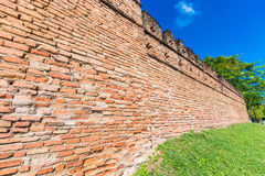 Ancient wall from red brick Royalty Free Stock Photo