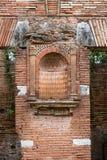Ancient wall of Roman bricks in Ostia antica, Italy royalty free stock photos