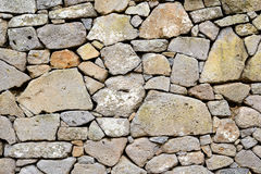 Ancient Wall of Stones Stock Image