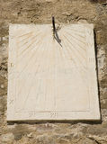 Ancient wall sundial Royalty Free Stock Images