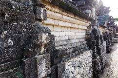 Ancient Wall in Uluwatu Temple, Bali, Indonesia Royalty Free Stock Photo