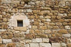 Ancient wall with window Royalty Free Stock Photo