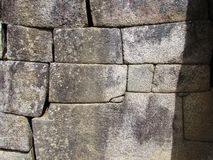 Ancient wall window at Machu Picchu Royalty Free Stock Images