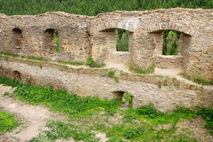 Ancient Wall With Windows Stock Images