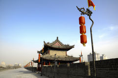 The ancient wall. In xian of china Royalty Free Stock Image