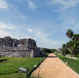 Ancient walled city of Tulum Royalty Free Stock Images