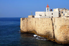 The ancient walls of Acre Akko Royalty Free Stock Images
