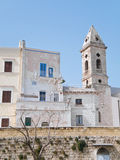 Ancient walls with Belltower. Bari. Apulia. Stock Photo