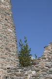 Ancient walls and a blue sky Royalty Free Stock Image