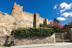 Ancient Walls in Buitrago de Lozoya, Madrid, Spain. Royalty Free Stock Images