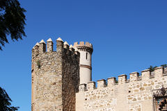 The ancient walls of the city of toledo, spain Royalty Free Stock Photo