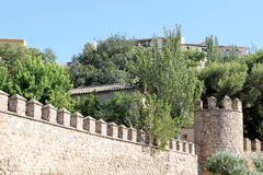 The ancient walls of the city of toledo, spain Royalty Free Stock Photos