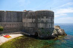 Ancient walls of Dubrovnik Stock Photography