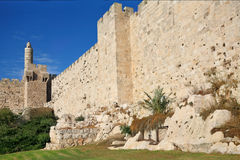 The ancient walls of the eternal Jerusalem Stock Photo