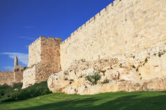 The ancient walls of the eternal Jerusalem Stock Photos