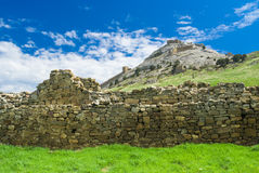 An ancient walls in Genoese fortress in Sudak Royalty Free Stock Photos