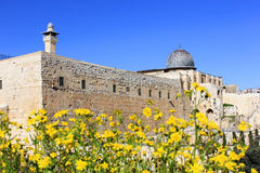 Ancient walls of the great Jerusalem, Israel Stock Photo