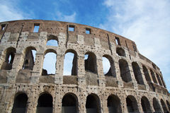 Ancient Walls of Great Roman amphitheater Colosseum in Rome Royalty Free Stock Images
