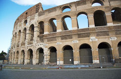 Ancient Walls of Great Roman amphitheater Colosseum in Rome, Royalty Free Stock Images